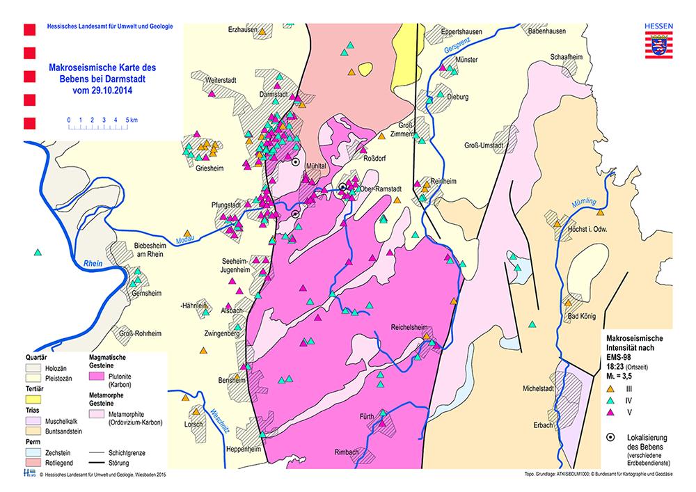 Erdbeben Deutschland Karte.Hessisches Landesamt Fur Naturschutz Umwelt Und Geologie